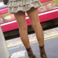 【画像】街撮り素人の生脚太ももがとってもエロいっす!