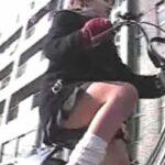 JK自転車パンチラ盗撮