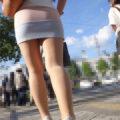 【画像】スベッスベな肌をしたエロ太ももを街撮り!