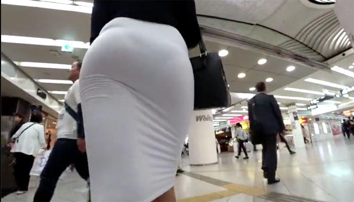 タイトスカート透けパンOL